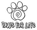 Paws fur life logo