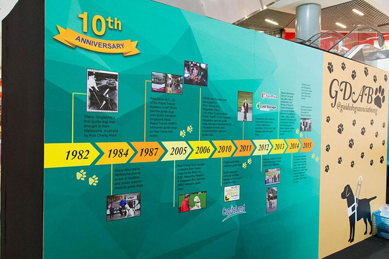 GDS 10th anniversary milestones wall