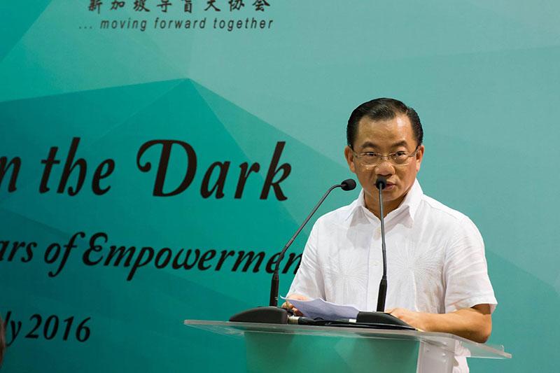 Guest-of-Honour Mr Seah Kian Peng giving a speech
