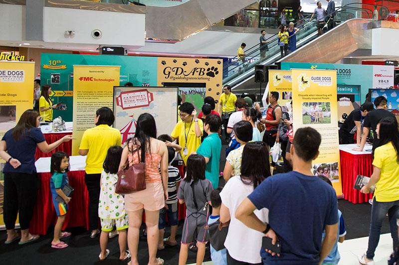 Public crowd at GDS event at Causeway Point atrium