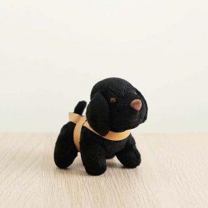 GDS merchandise black guide dog plushy key chain side profile
