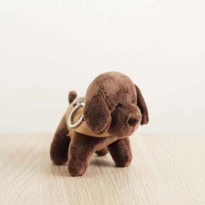 GDS merchandise brown guide dog plushy key chain side profile