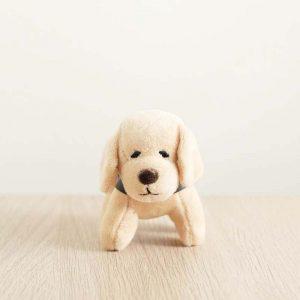 GDS merchandise beige guide dog plushy key chain front profile