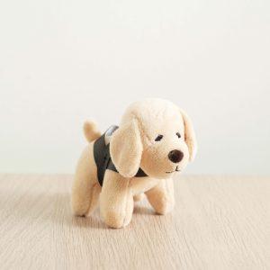 GDS merchandise beige guide dog plushy key chain side profile